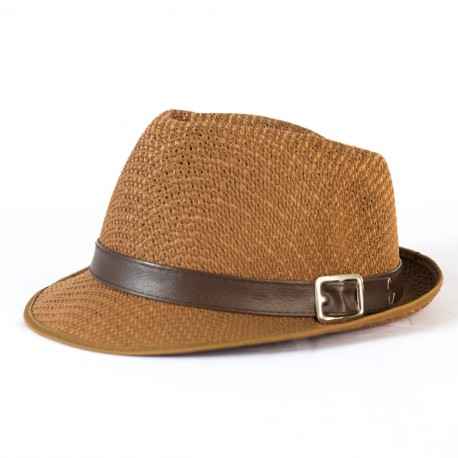Vintage Men Fedora Straw Hat