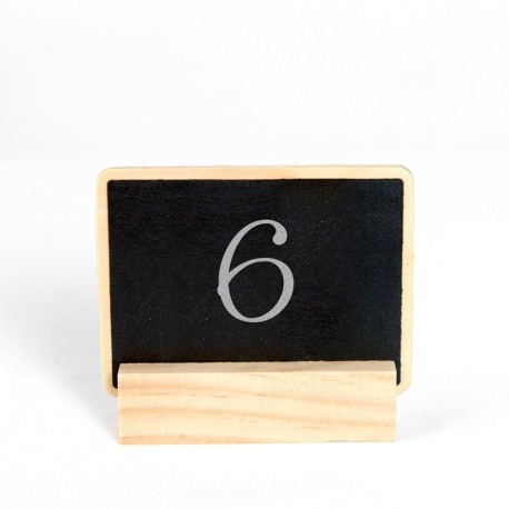 Wedding Table Number Chalkboard