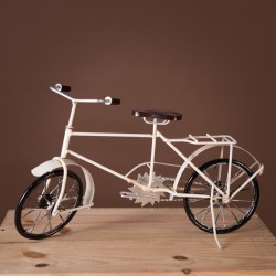 Retro White Bicycle Decor