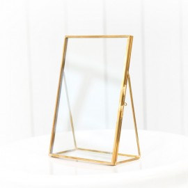 Gold Glass Photo Frame