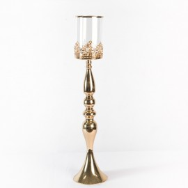 Ornate Gold Candle Holder Stand