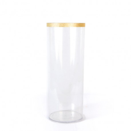 Tall Clear Cylinder Flower Vase