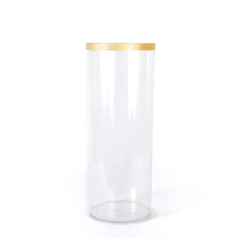 Rent Gold Rim Tall Clear Cylinder Vase Dreamscaper Home Party