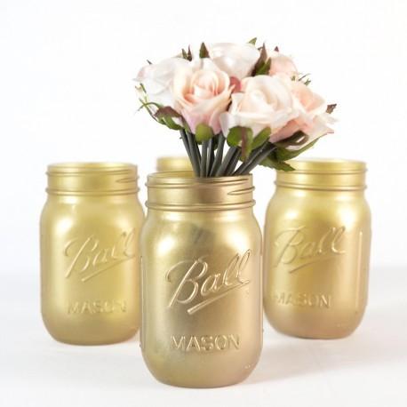 Gold Mason Jar Decor
