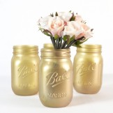 Rent: Vintage Gold Mason Jar