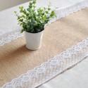 Rent: Burlap Lace Table Runner