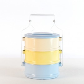 Old School Tiffin Carrier (Light Blue Base)