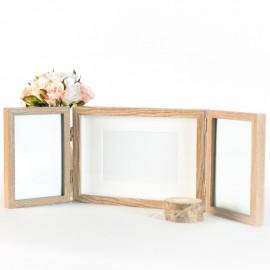 Triple Wooden Photo Frame