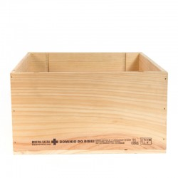 Rent: Plain Wooden Wine Crate (Sq Large)