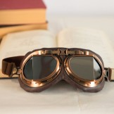 Rent: Steampunk Aviator Goggles (Brown)