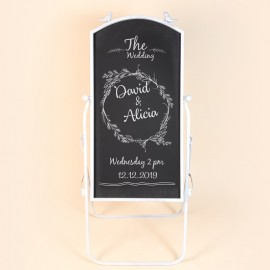 Wedding Calligraphy on Chalkboard