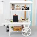 Rent: Large Wooden Push Cart (White)