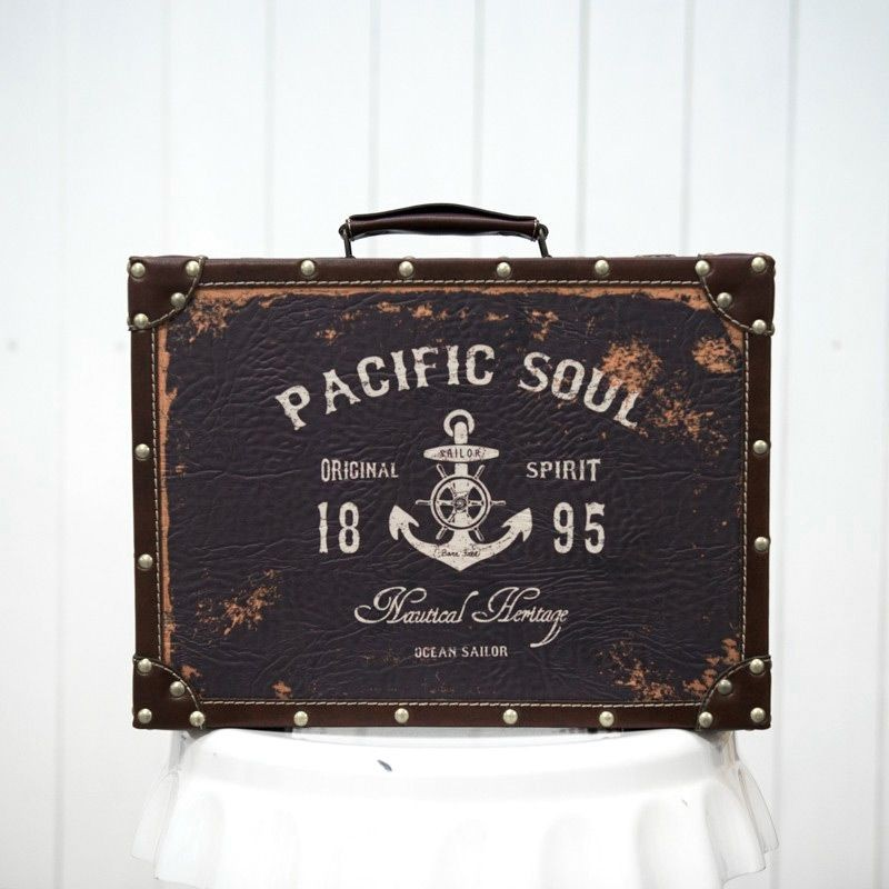 Rent Vintage Nautical Suitcase - Party Decorations