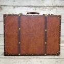 Rent: Large Vintage Luggage (Dark Brown)