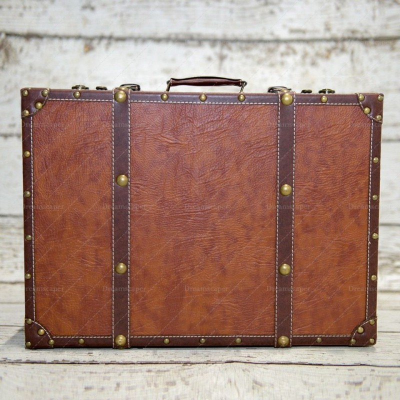 Rent Large Vintage Luggage - Photobooth Props Singapore