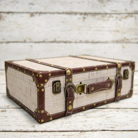Photobooth Props Vintage Luggage (Beige)