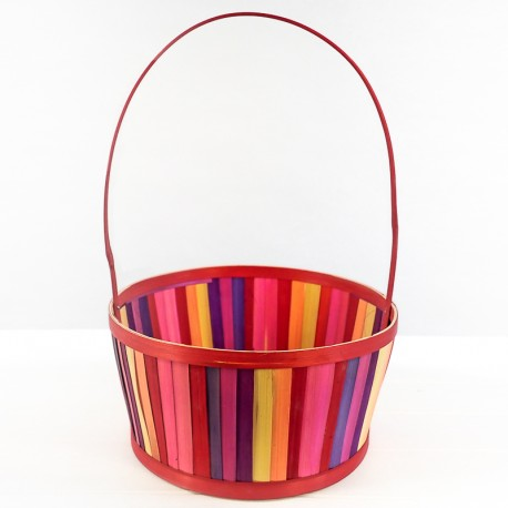 Colourful Rattan Basket