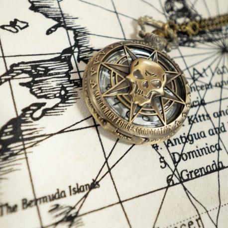 Pirate Skull Pocket Watch