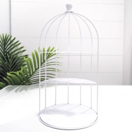 Rent: White Bird Cage Cupcake Stand