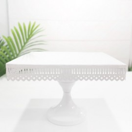 Rent: White Square Cake Stand