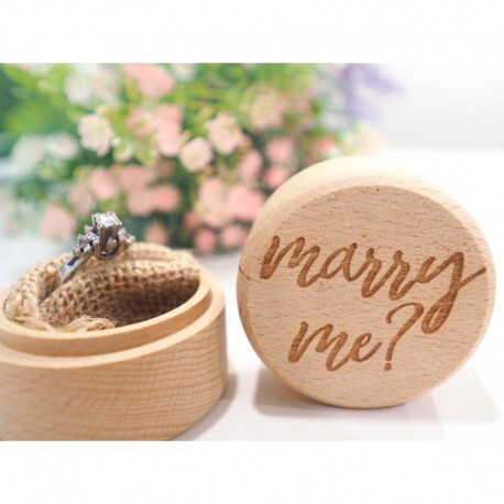 Marry Me Proposal Ring Bearer