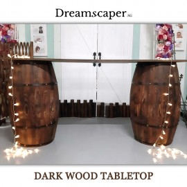 Rent: Dark Wood Tabletop (Foldable Planks)