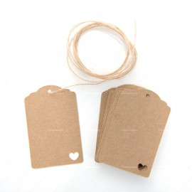 Kraft Paper Heart Gift Tags