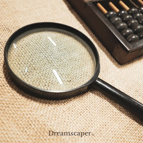 Black Magnifying Glass Prop