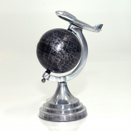 Mini Globe With Airplane