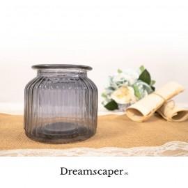 Dark Blue Glass Short Vase