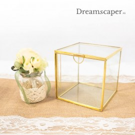 Gold Square Glass Display Box (Small)
