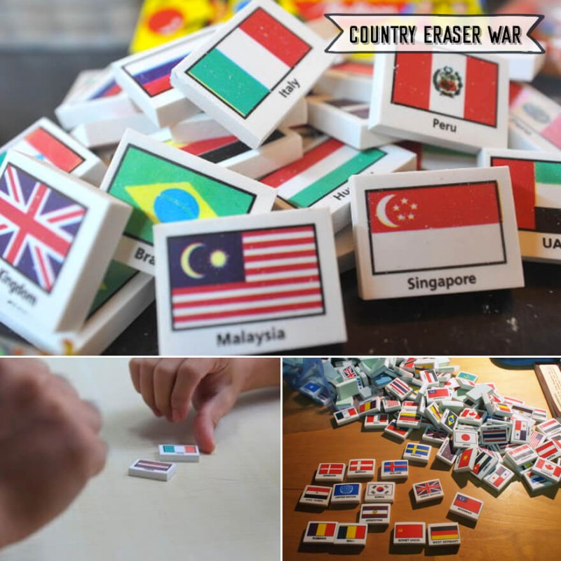 Singapore Old School Country Flag Eraser Game