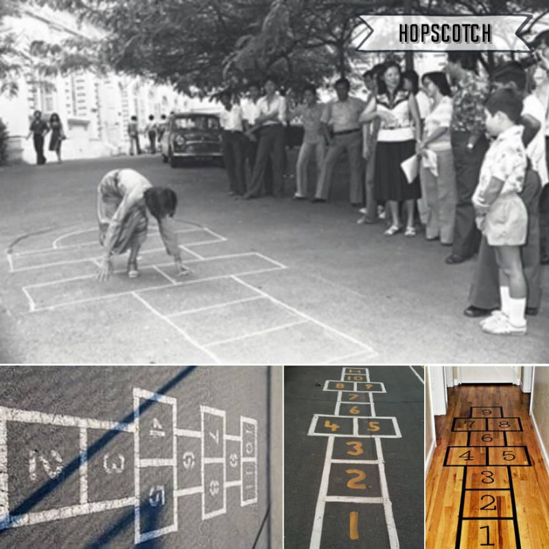 Singapore Old School Games - Hopscotch
