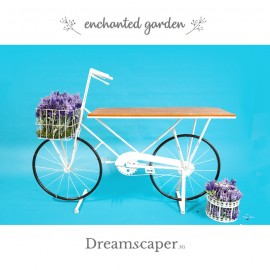 White Wedding Bicycle Decor