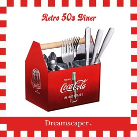 Rent: Retro Coca Cola Utensil Caddy