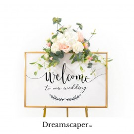 Rent: Gold Wedding Welcome Signage Set