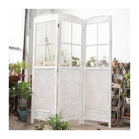 Vintage White Rustic Screen Door