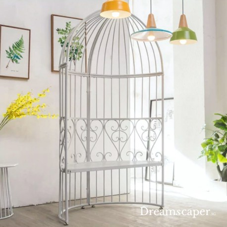 Half White Wedding Bird Cage Seating