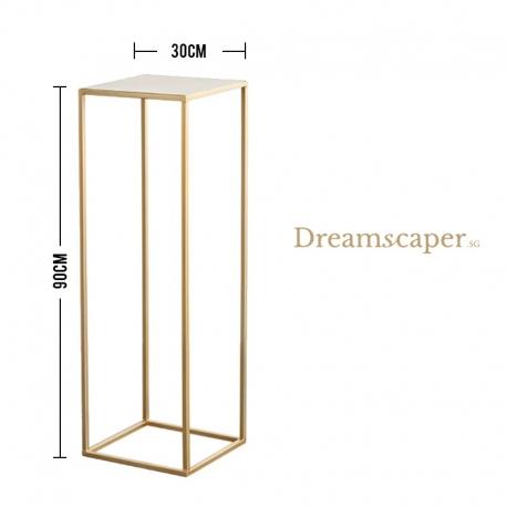 Gold Metal Geometric Display Stand