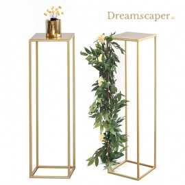 Rent: Gold Flower Metal Stand