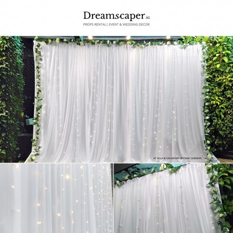 3m x 3m Fairy Light Backdrop