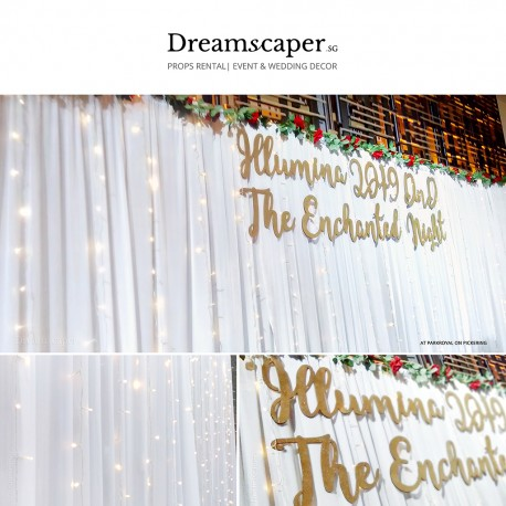 Fairy Light Backdrop Rental Singapore