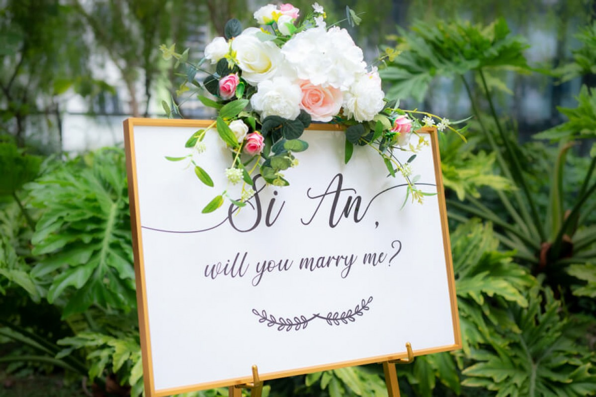 Our Client: Marriage Proposal Signage