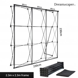 Rent: Exhibition Banner Display Frame 2.3m x 2.3m