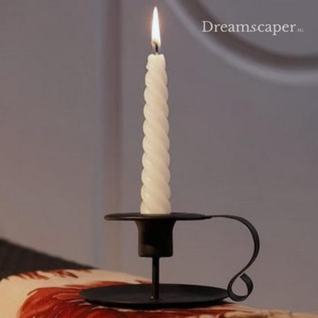 Vintage Black Candle Holder