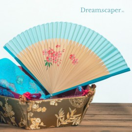 Rent: Oriental Bambo Fan (Blue)