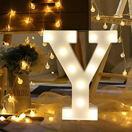 Marquee LED Light Letter Y