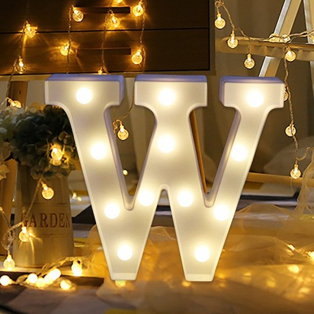 Marquee LED Light Letter W