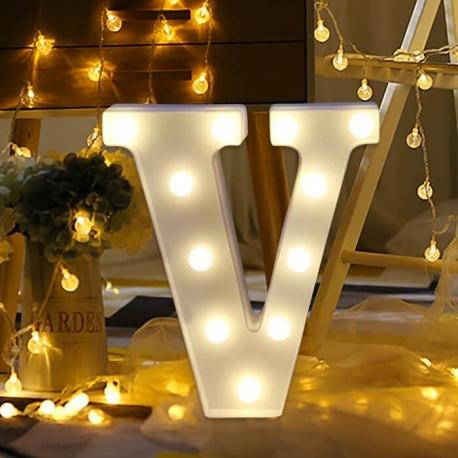 Marquee LED Light Letter V