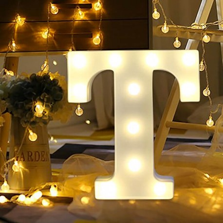 Marquee LED Light Letter T